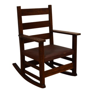 Gustav Stickley Child's Rocking Chair