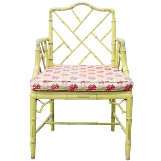 Chippendale Faux-Bamboo Fretwork Armchair