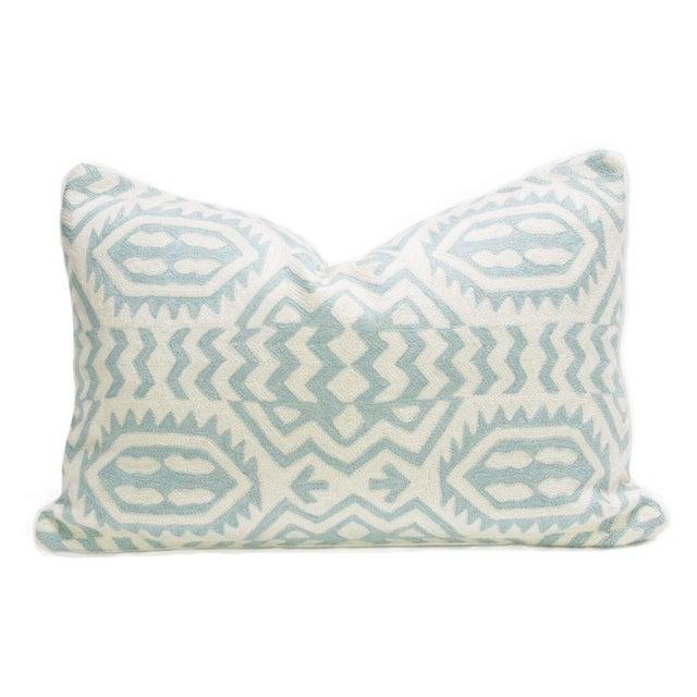 Image of Kashmiri Native Tribal Turquoise Pillow