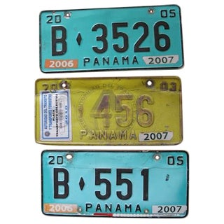 Decorative License Plates From Panama - Set of 3
