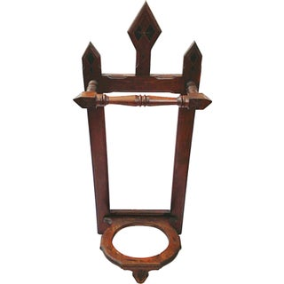 Antique Victorian Mahogany Umbrella Stand