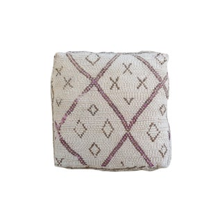 White & Brown Moroccan Floor Pillow