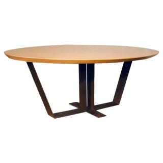 20th Century Custom Oak Top Dining Table