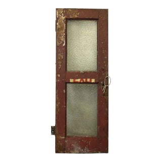 Steel Industrial Door With Clear Chicken Wire Glass