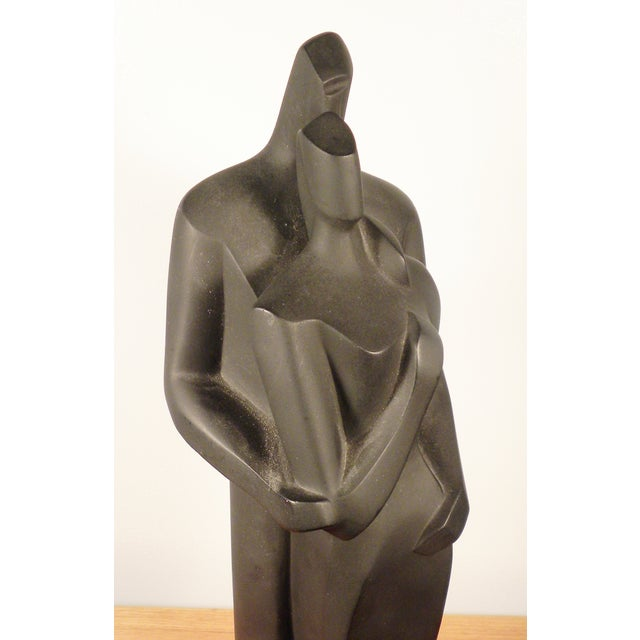 Modern Sculpture Embracing Man and Woman - Image 3 of 8