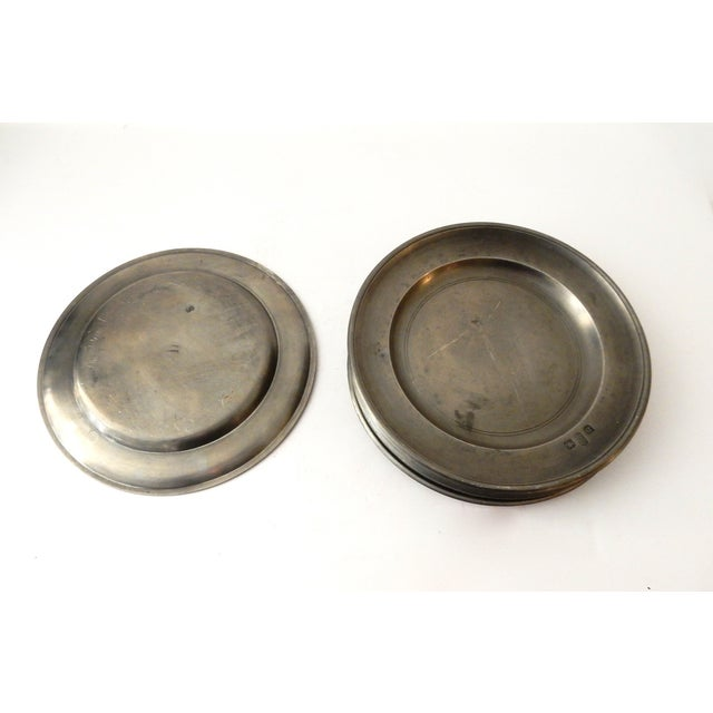 Image of Traditional Pewter Sous Plats - Set of 10
