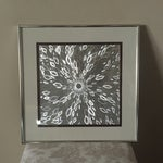 Image of Mid-Century Gray & Silver Psychedelic Op Art