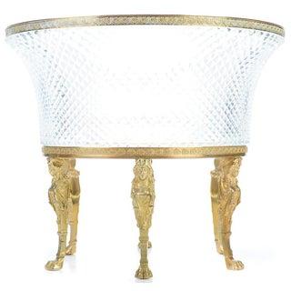 Antique Napoleon III Crystal & Bronze Centerpiece