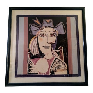 Pablo Picasso Framed Mounted Silk Scarf