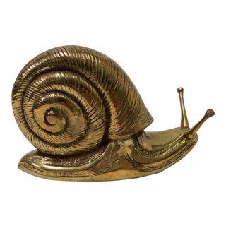 1970s Brass Snail Paperweight