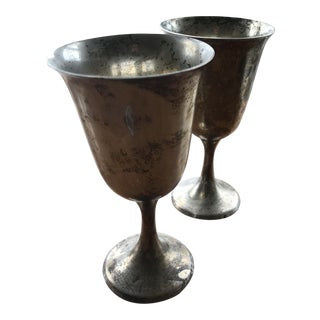 Sterling Silver Goblets - A Pair