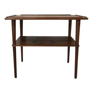 Mid-Century Modern Western Pyrography Table