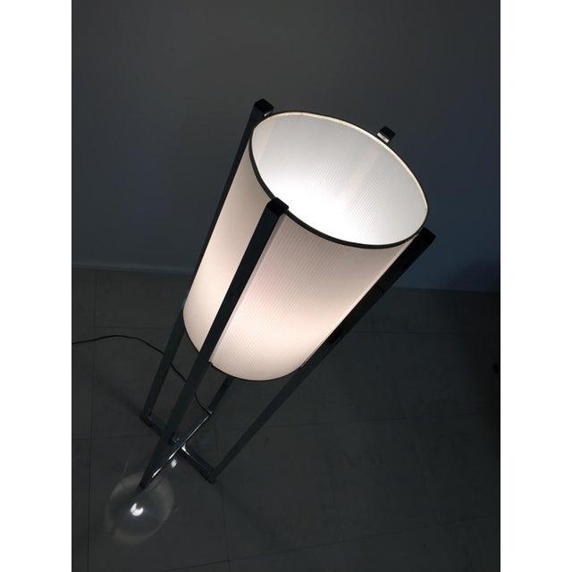 Image of Vintage Chrome Drum Shade Floor Lamp