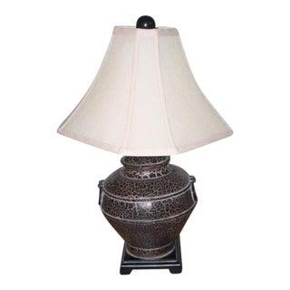Vintage Solid Bronze Urn Lamp