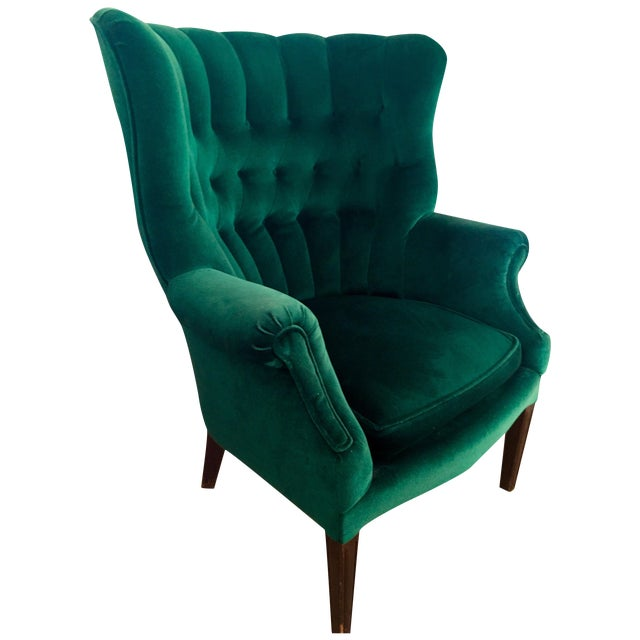 Vintage Emerald Green Armchair
