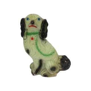 Vintage Staffordshire Dog Painted Plaster Bank