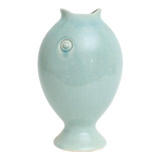 Blue Fish Figure Vase