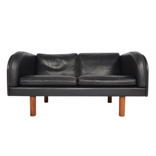 Jörgen Gammelgaard Black Leather Loveseat