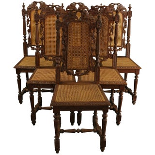 French Renaissance Dining Chairs - Set of 6