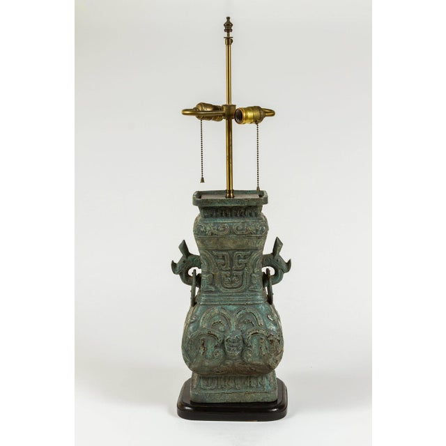 Image of James Mont Style Cast Lamps - a Pair