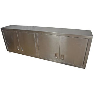 Stainless Steel Media Credenza