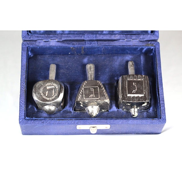 Image of Silver Plated Dreidals - Set of 3