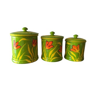 Handpainted Italian Canisters - S/3