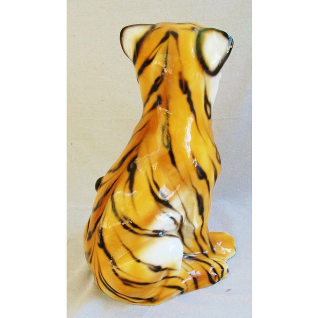 Large Mid-Century Porcelain Italian Tiger - Image 6 of 11