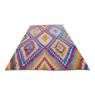 "New Tribal Handmade Multicolor Tulu Moroccan or Shaggy Style Turkish Rug - 8'5 X 11'8"""