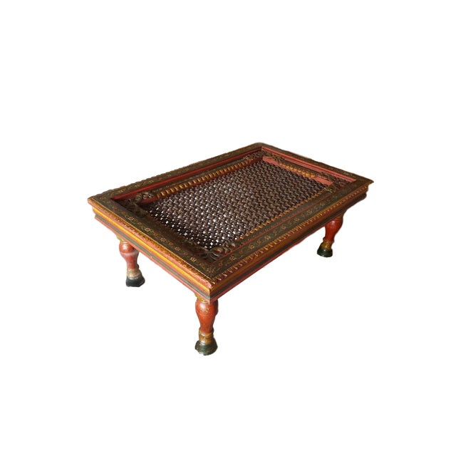 Handmade Wooden Carved Traditional Coffee Table - Image 3 of 4