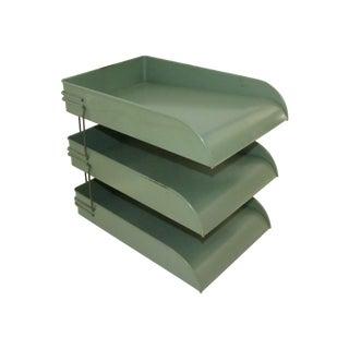 Globe Wernicke Industrial Metal Desk Tray