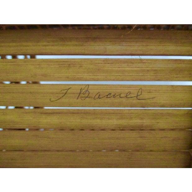 Vintage Handmade Wicker Basket - Image 6 of 6