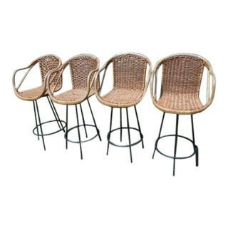 Danny Ho Fong Style Tropcal Bar Stools - Set of 4