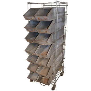 Industrial Bakery Rack From Wonder Bread Bakery