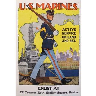 1918 Original American Marine Recruitment Poster