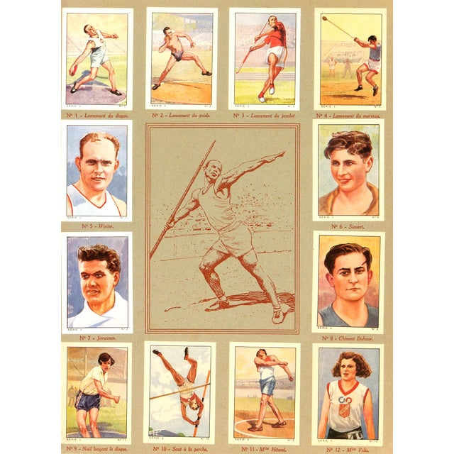 Vintage Athletics Print, France 1937 - Image 1 of 3