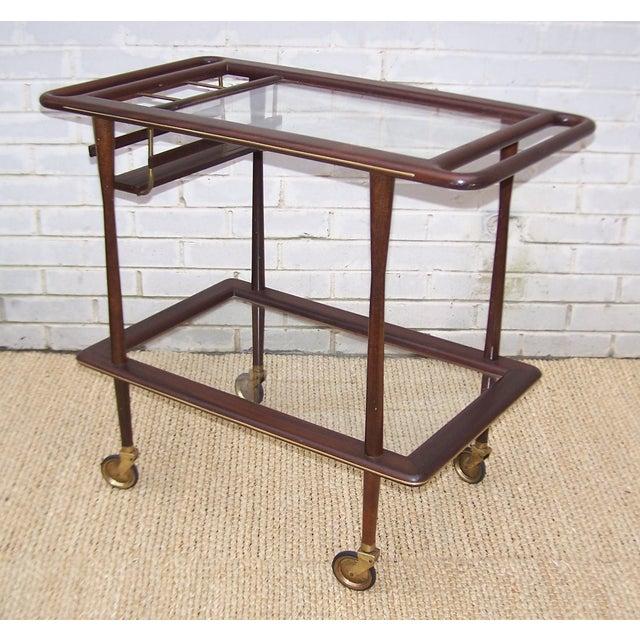 1950s Cesare Lacca Italian Bar Cart - Image 2 of 9