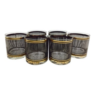 Vintage Georges Briard Mid-Century Cocktail Glasses - Set of 6