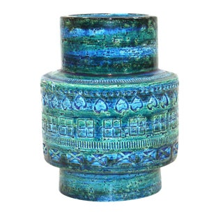Aldo Londi for Bitossi Rimini Blue Pottery Vase