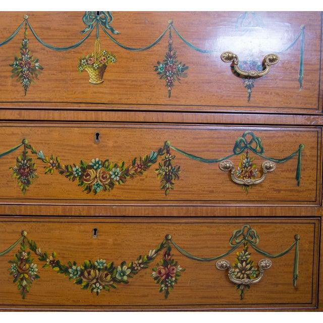 English Adams Style Painted Satinwood Secretary - Image 4 of 10