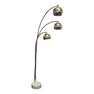 Italian Mid-Century Modern Atomic Brass Eyeball Floor Lamp
