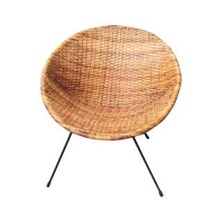 Rattan Woven Hoop Chair