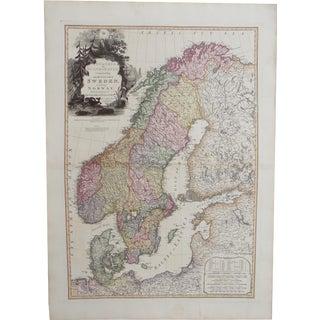 Map of Scandinavia, Sweden & Norway, 1823