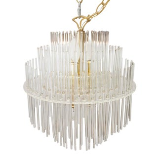Gaetano Sciolari Glass Rod Chandelier