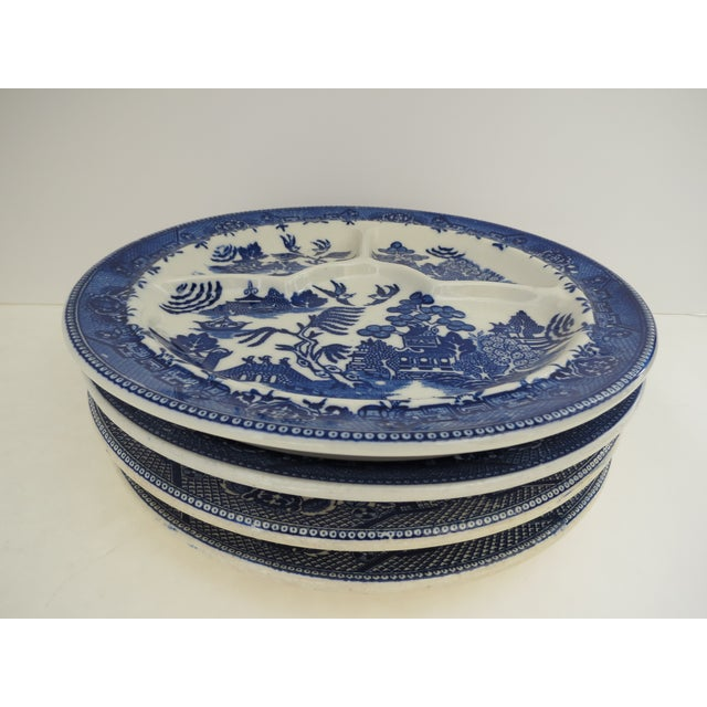 Blue Willow Grill Plates - Set of 4 - Image 4 of 8