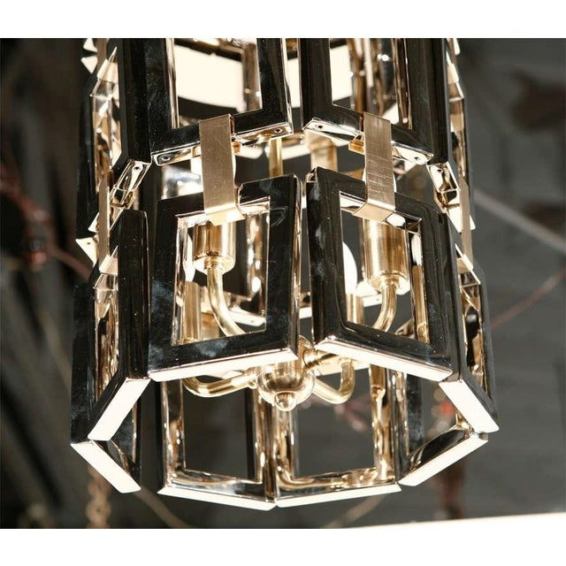 Paul Marra Link Fixture in Polished Nickel & Brass - Image 3 of 6