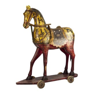 19th Century Wooden Celebration Horse