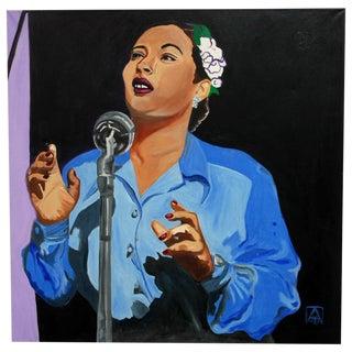 "Adria Becker ""Swingin' the Blues"" Oil Painting"