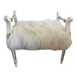 Tibetan Lamb Covered Bench