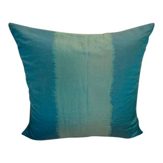 Silk Teal Pillow with Knife Edge